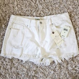 White Distressed Lucky Brand Shorts